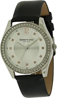 Kenneth Cole Watch Casual Watch For Women, Analog - Silver Leather Band - Kc10031697