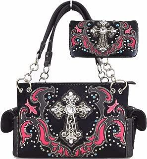 Western Laser Cut Coin Purse Backpack Ladies Handbags Rhinestone Shoulder Bag Wallet Set