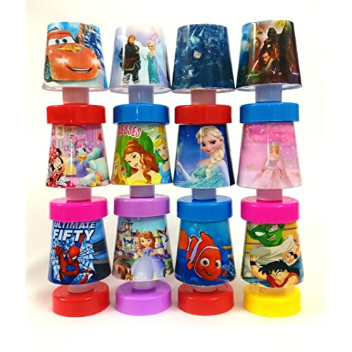 Shopkooky Multicolour Cartoon Printed LED Night Lamps Perfect For Your Kids Room Pack Of 12
