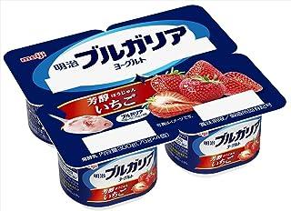 [冷蔵] 明治 明治ブルガリアヨーグルト芳醇いちご 75g×4
