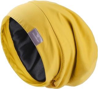YANIBEST Silk Satin Bonnet Hair Cover Sleep Cap - Adjustable Stay on Silk Lined Slouchy Beanie Hat for Night Sleeping …