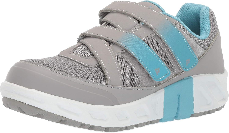 Propet Women's Matilda Strap Sneaker Grey bluee 6.5 D US