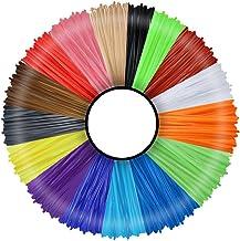 3 idea Imagine Create Print 3D Pen Printer Filament -16 Colors 1.75 mm PLA Refills Pack -Each Color 5 m Length -DIY 3D Art...