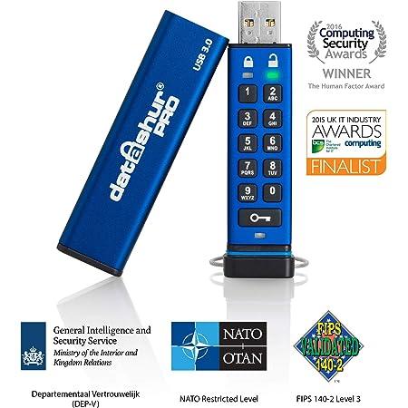 iStorage datAshur PRO 256-bit 8GB USB 3.0 secure encrypted flash drive IS-FL-DA3-256-8