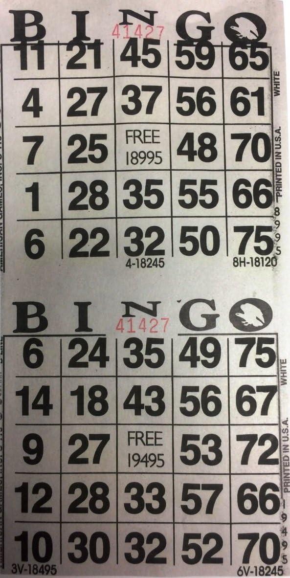 American Games New Shipping Free Shipping Atlanta Mall INC 3000 Paper Bingo Cards-2 Cards sheet-1500 per
