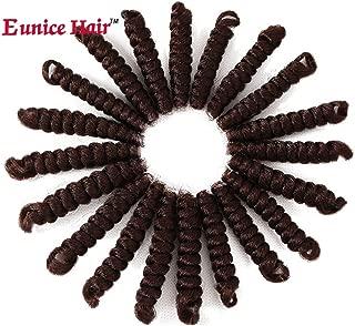 3 Packs Eunice Hair Synthetic Toni Curl Crochet Braids Short Kanekalon Braiding Hair Spiral Curls Jamaican Bouncy Twist Hair Extensions 20 Strands/Pack (10 inch toni, 30)