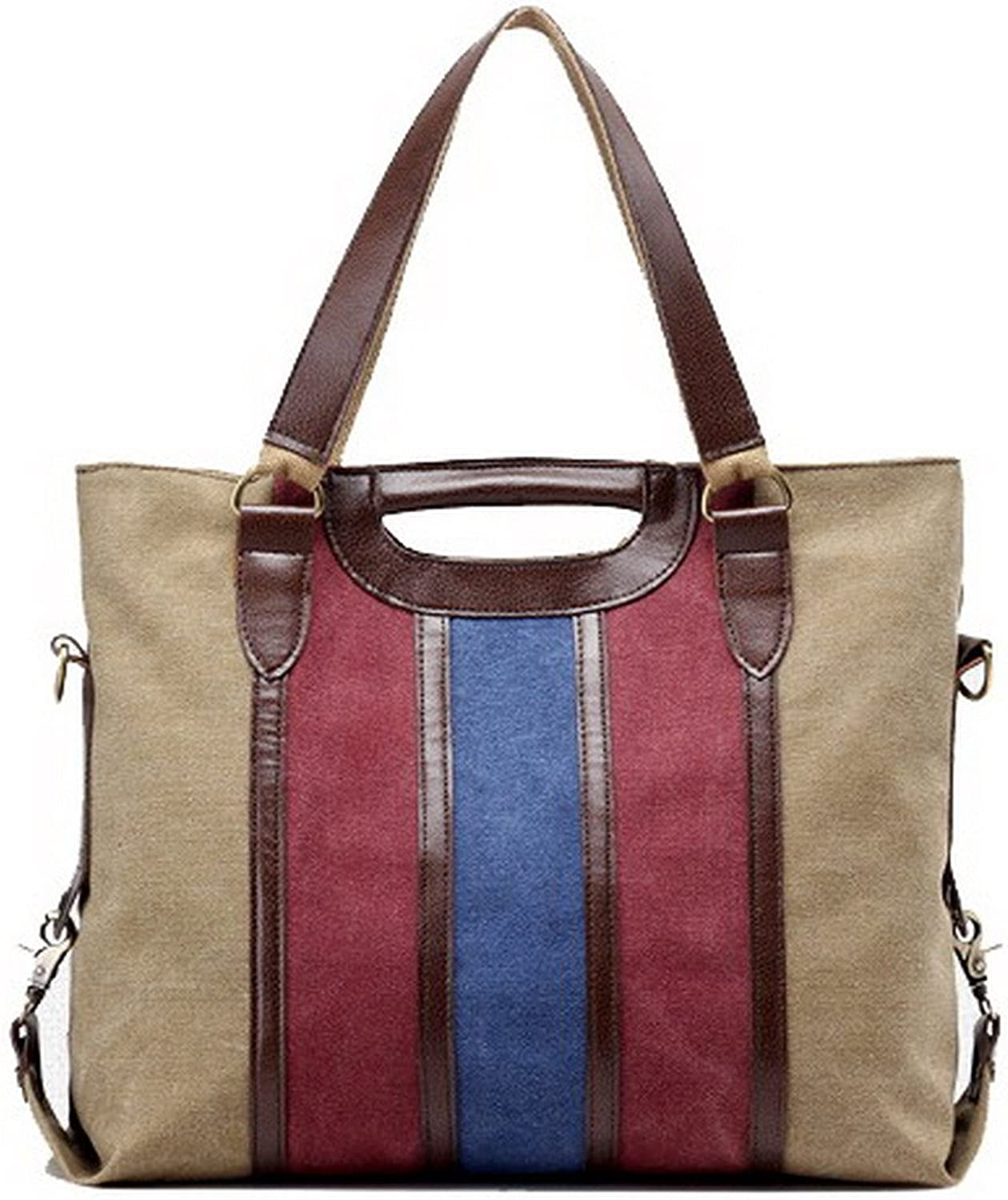 WeiPoot Women's Work Canvas Crossbody Bags Shopping Tote Bags, EGHBG181353