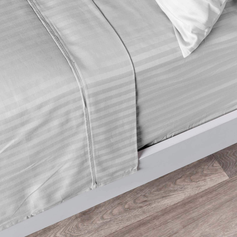 Knight & Kavalier - Juego de sábanas de algodón Egipcio de 500 Hilos, 1 sábana Bajera Ajustable de 72 cm de Profundidad, 1 sábana encimera y 2 Fundas de Almohada, Transpirables: Amazon.es: Hogar