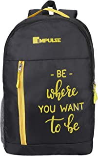 Impulse 30 Ltrs Yellow Casual Backpack (Colombus 30 litres Yellow)