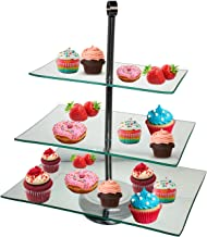 TJB 3 Tier Serving Tray Platters, Appetizer or Dessert Cupcakes And Cake Stand - Centerpiece For Weddings, Tea Party, Holiday Dinners, or Birthday Parties (Rectangle 3 Tier)