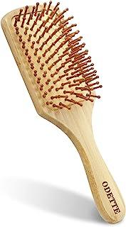 Odette ヘアブラシ 竹製櫛 ヘアケアブラシくし ヘアケア 頭皮&肩マッサージ 静電気防止 握りやすい 人間工学 美髪ケア 頭皮に優しい メンズ レディースに適用 (Small)