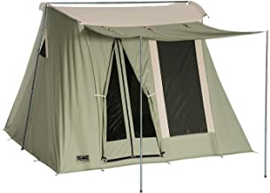 SPRINGBAR Highline 6 | 10x10 Foot Canvas Tent | Water-Tight Cotton Canvas 6-Person Family Camping and Car Camping Tent | 6.5 Foot Interior Standing Height | Classic 1961 Easy Set Up Design