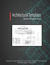 Architectural Templates: Layout Kit / Shop Drawings / Construction Drawings / Autocad / 3D Machine Design / Mock Draft (Sketch Paper Pad)