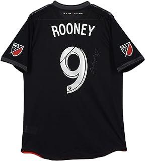 aaec93b4c Wayne Rooney D.C. United Autographed Match-Used Black  9 Jersey vs.  Columbus Crew