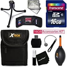Ideal 16GB Accessories KIT for Sony Cyber-Shot DSC-WX500, HX90V, WX350, WX300, HX50V, HX300, RX1, RX1R, RX100, RX100 II, R...