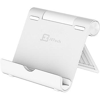 JEDirect タブレット スマホ スタンド 角度調整可能 ポータブル アルミ製 シルバー