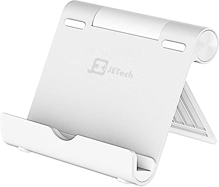 JETech Stand for Tablet and Smartphone, Multi-Angle, Portable, Aluminum