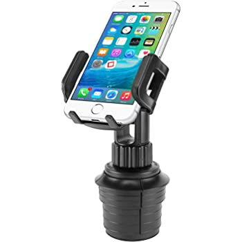 Cellet Car Cup Holder Mount, Adjustable Smart Phone Cradle for iPhone 11 Pro XR XS Max X 8 Plus 7 SE Samsung Note 10 + 9 Galaxy S20+ Ultra S10+ S9 A71 A51 A21 A11LG Stylo 6 V60 Moto z4 edge+ e6 (PH600)