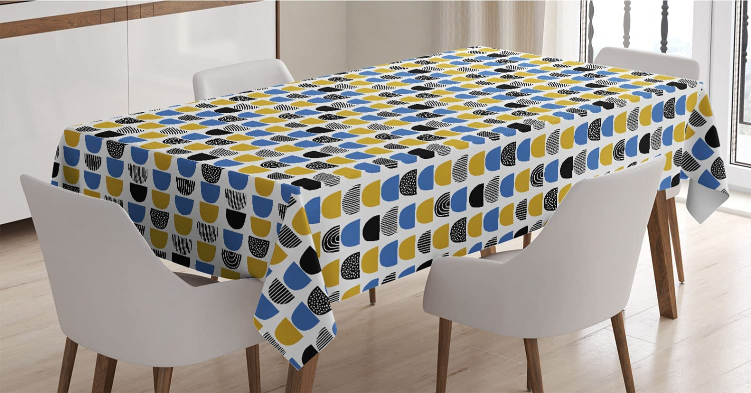 Max 69% OFF Ambesonne Long Beach Mall Abstract Tablecloth Surreal Or Pattern with Different