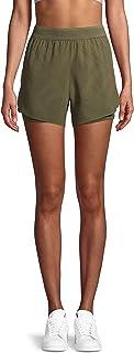Avia Activewear Women's Running Short with Pocket Bike Liner