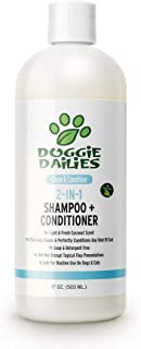 Doggie Dailies Dog Shampoo and Conditioner: 2-in-1 Shampoo for Dogs Made in The USA - Safely Cleans, Conditions, and Moist...