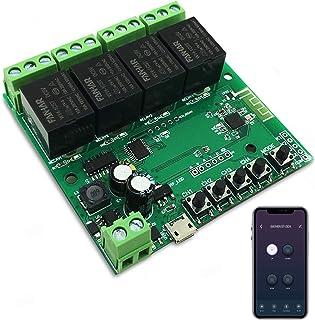 Newgoal 4-kanaals WiFi Smart Switch-relaismodule, TUYA/Smart Life-app voor Smart Home-afstandsbediening, tijdelijke tijd i...