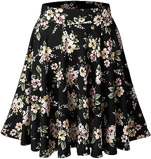 cunlin Women's High Waisted Skirts Mini/Midi Pleated Stretchy Skater Skirt