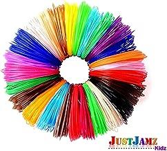 JustJamz PLA 3D Pen Filament Refills 1.75mm x 20 Feet (Totaling 400 Feet) of Eco Friendly Non-Toxic Kids Safe PLA Filament, Pack of 20 Bright Colors