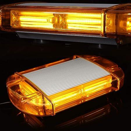 18W Yellow 6500k 1 St/ück Stroboskop Warnlicht Strobo Blitzer Leuchte Auto Warnleuchten Stand Licht Cargo Truck Strobe Leuchten 6 LED IPX-4 DC12~24V Lezed Frontblitzer