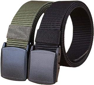 Militärutrustning taktiskt bälte män metallspänne tjockare nylon kanvasbälten för män