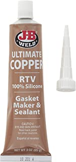 J-B Weld 32325 Ultimate Copper 3 Ounces High Temperature RTV Silicone Gasket Maker and Sealant