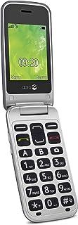 Doro 2414 GSM mobiltelefon i elegant hopfällbar design stål/silver