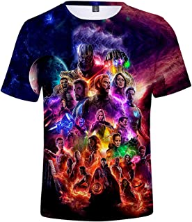 Unisex Camiseta Marvel Avengers Super Hero Quantum Realm 3D Vistoso Impresión T-Shirt(M)