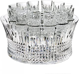 Waterford House of Waterford Crystal Lismore Diamond Vodka Chill Set