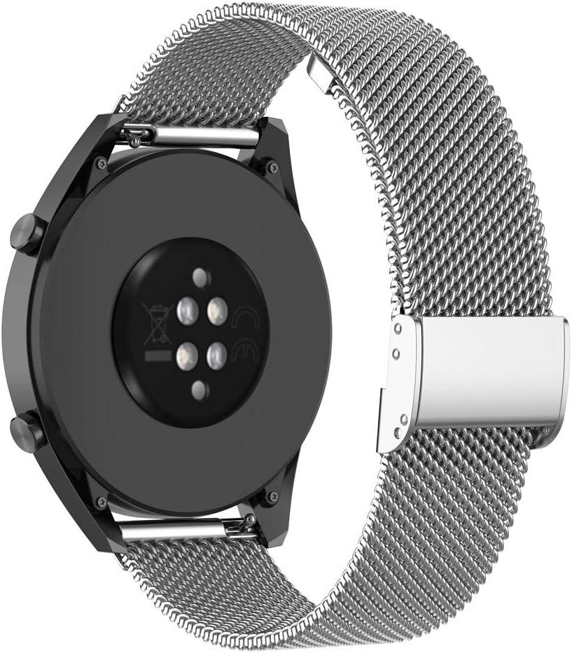 KOMI Metal Correas de Reloj para Gear S3 Frontier/Classic/Galaxy Watch 46 mm, Reemplazo de Correa de Acero Inoxidable (22 mm, Plata)