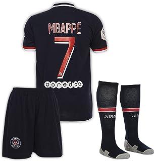 Paris #7 Mbappe 2020-2021 Heim-Auswärts Kinder Fußball Trikot Hose und Socken Kindergrößen