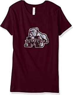 NCAA Mississippi State Bulldogs Women's Vintage Sheer Short Sleeve Tee, Maroon, Small