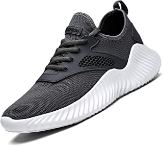 Men's Walking Shoes Mesh Casual Athletic Shoes Minimalist Running Shoes Non-Slip Lightweight Breathable Tennis Fashion Sneakers