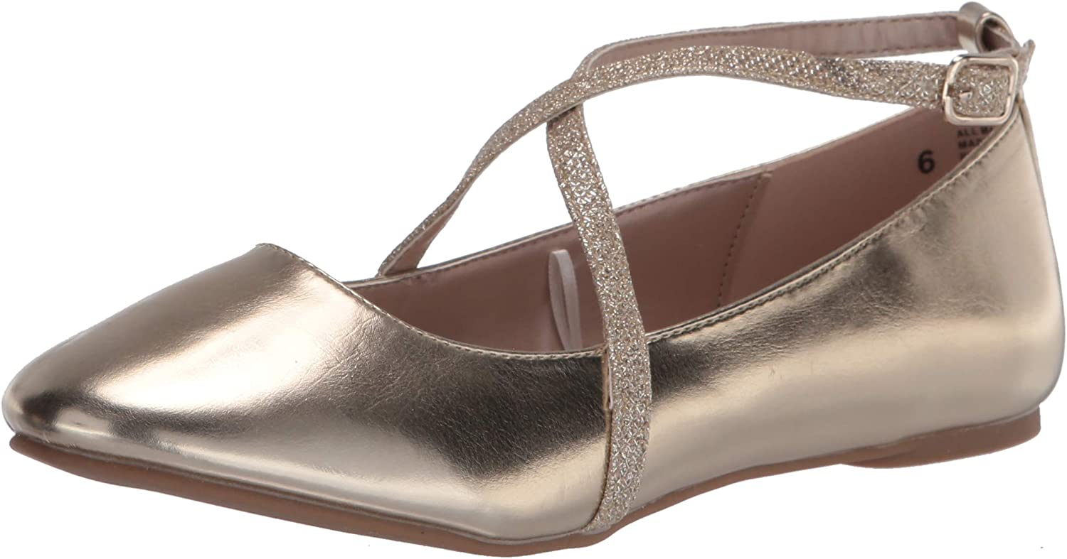 The Children's Max 50% OFF It is very popular Place Unisex-Child Strap Ballet Flats