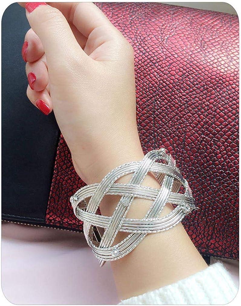 YAZILIND Open Criss Cross Wire Cuff Bangle Bracelet Jewelry for Women Girl Gift