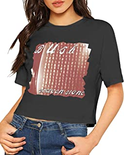 AlbertV Bush Sixteen Stone Sexy Exposed Navel Female T-Shirt Bare Midriff Crop Top T-Shirts Black