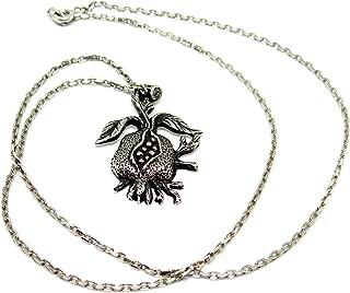 Silver Pendant, Silver Necklace Pendant, Sterling Silver Pomegranate Pendant, Silver Chain Pendants, Pendant Jewelry, Pendant Chain Necklace