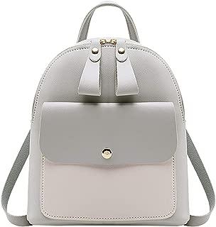 2019 Women Leather Backpack Girls Mini Backpack Women Cute Panel Backpacks For Teenage Girls Small Bag
