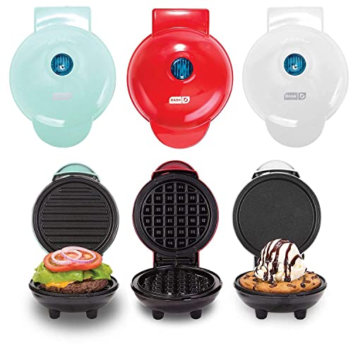 Dash Mini Maker Griddle, Waffle Maker and Grill Set (Assorted Colors) (Classic