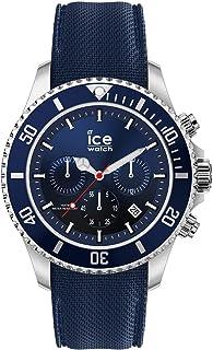 Ice-Watch - Ice Steel Marine - Montre Bleue pour Homme avec Bracelet en Silicone - 017929 (Medium)