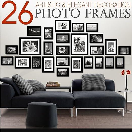 PRINTELLIGENT Memory Wall Photo Frame Set Classic Set of 26