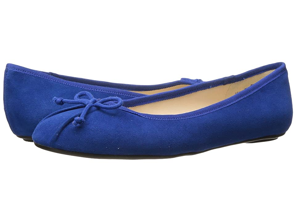 Nine West Batoka Ballerina Flat (Blue Suede) Women