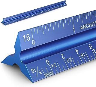 """حاکم مقیاس معماری 12 """"مقیاس معماری آلومینیوم خط کش مقیاس مثلثی برای معماران ، طراحان ، دانشجویان و مهندسان ، آبی"""