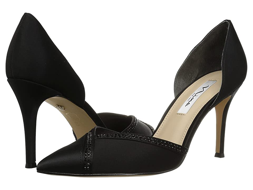 Nina Diora (Black Satin) High Heels