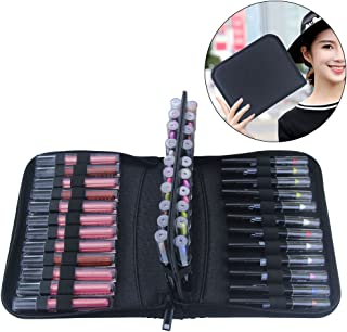 MONSTINA Lipstick Organizer,Lipstick Case,36 Slot Lipstick Bag,Carrying Marker Case Holder Marker Pen Case Cosmetic Tools,Waterproof and Antiskid Cosmetic Case